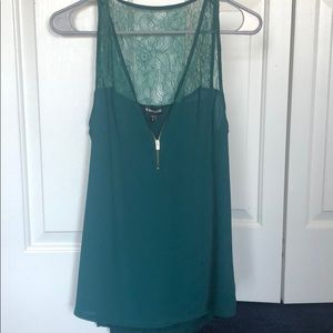 Express Green sleeveless top size small